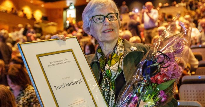 Turid Farbregd tildelt det skjønnlitterære oversetterfonds pris